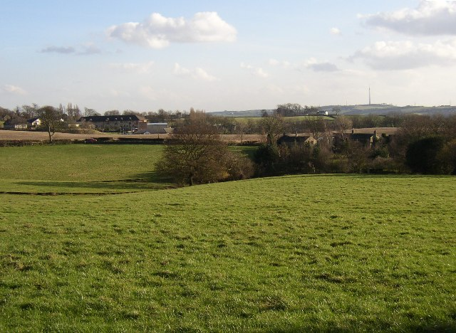 View towards Parkinhole from footpath in Hartshead, Yorkshire