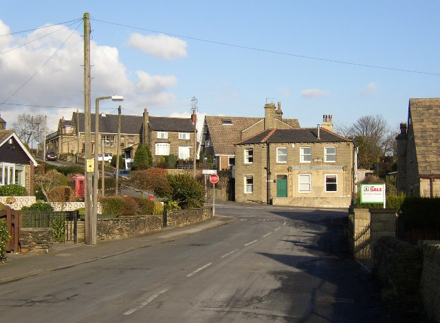 The centre of Hartshead village, Yorkshire