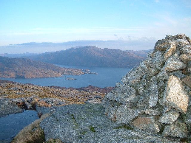 Rhenigidale from the summit of Uiseabhal