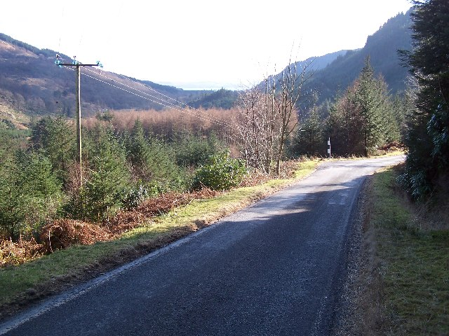 Looking down the Road to Ardentinny