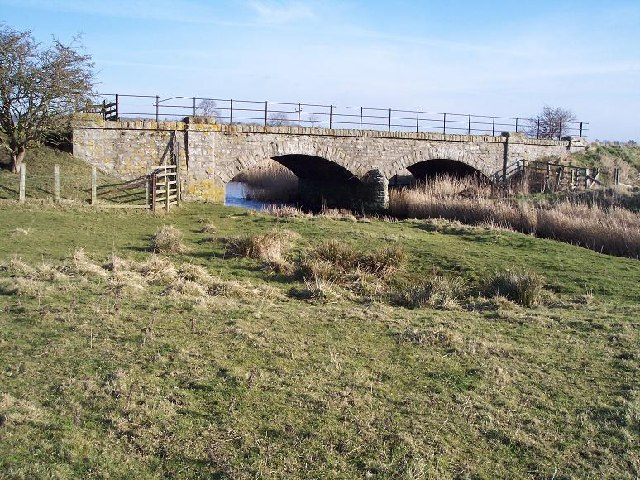 Disused railway bridge over the River Wansbeck, Low Angerton, Northumberland