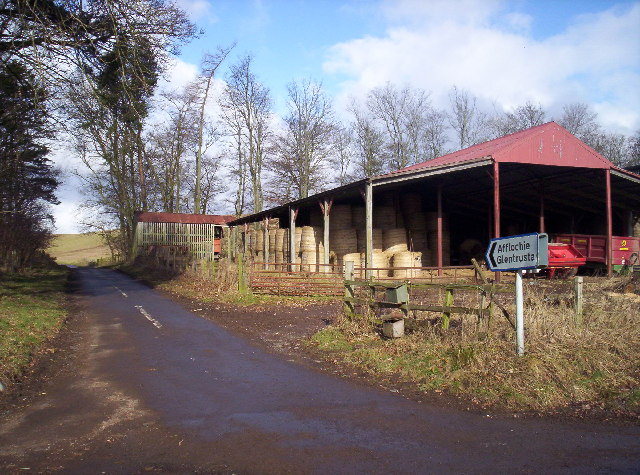 Junction for Afflochie and Glentrusta in Balquharn