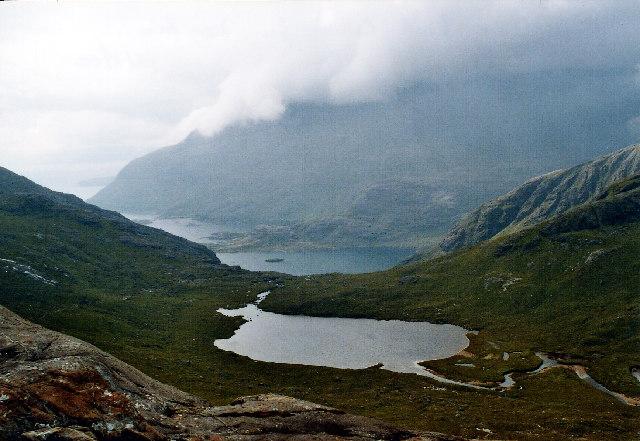 Coire Riabhach and Loch a'Choire Riabhaich, Skye