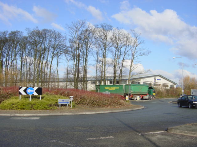 Roundabout on Knowsley Industrial Estate
