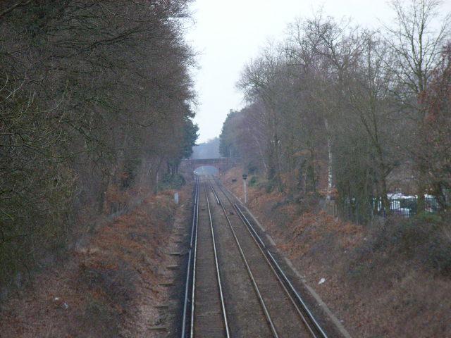 The railway near Bagshot