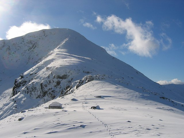 North side of Beinn Eunaich.