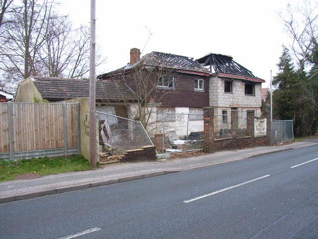 Burned house, Broad Lane, Bracknell