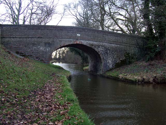 Canal bridge at Wrenbury Heath