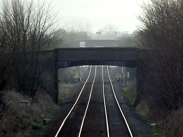 Road bridge over the railway