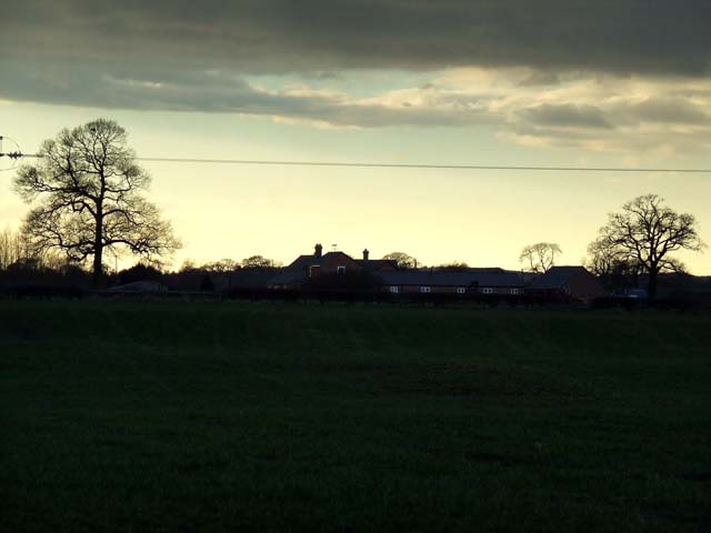 Mere House at dusk