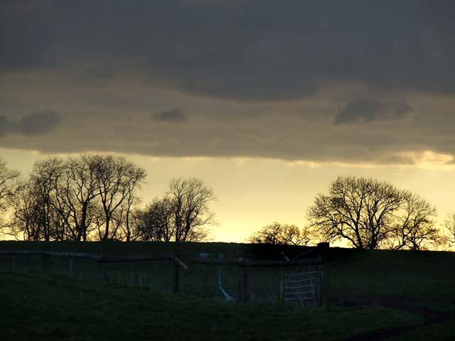 Sunset at Baddiley Hulse