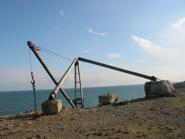 Old quarrying equipment, Portland