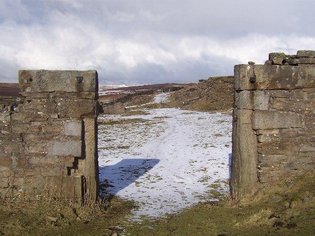 Ruins of Smelting Works on Grassington Moor
