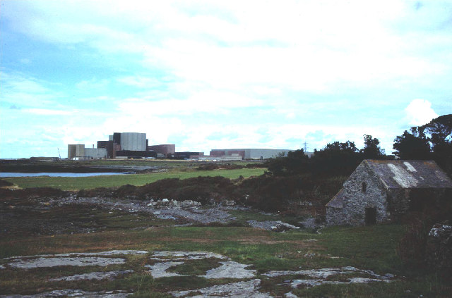 Wylfa power station and Cestyll watermill