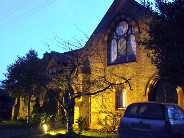 A Floodlit Converted Church