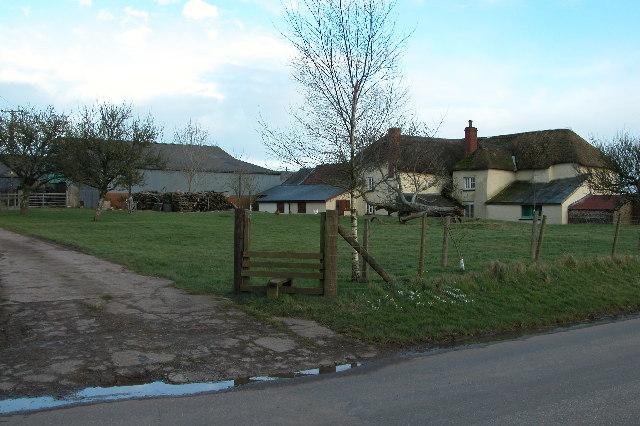 Farm at Hele Barton, near Thelbridge Cross