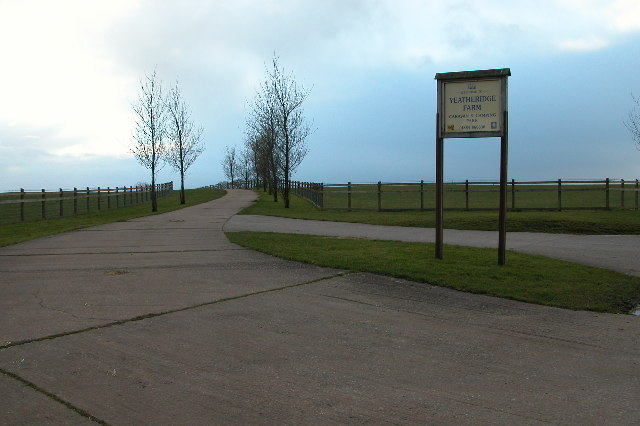 Entrance to campsite at Yeatheridge Farm