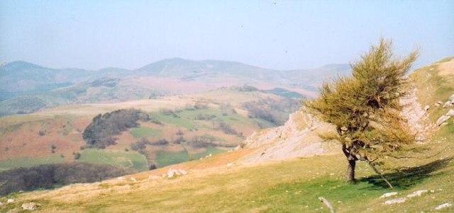 Creigiau Eglwyseg near Llangollen