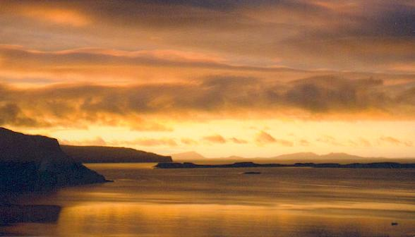 Island of Isay in Loch Bay, Skye