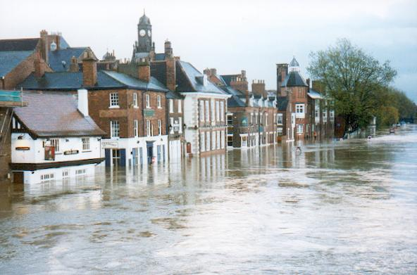 The Ouse in flood. York