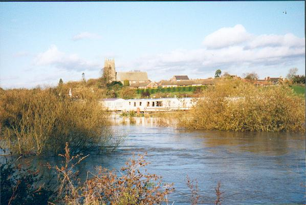 Swale in flood at Topcliffe