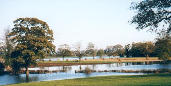 Flooded fields Aldborough