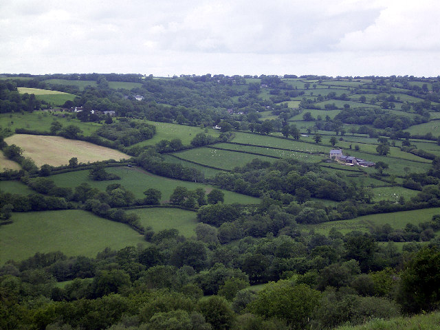 View NW from Dumpdon Hill