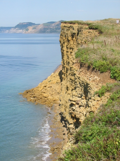 Burton Cliff, showing 2005 landslip