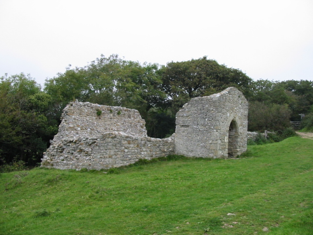 Remains of Stanton St. Gabriel's church