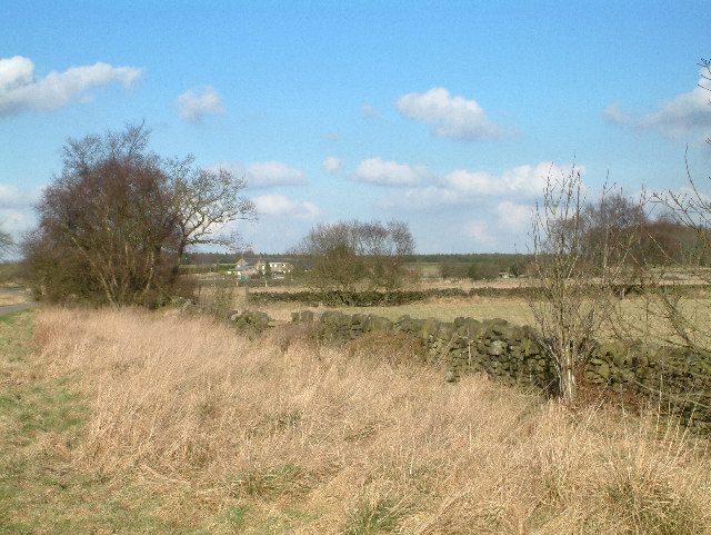 Looking across the fields towards Moor Farm.