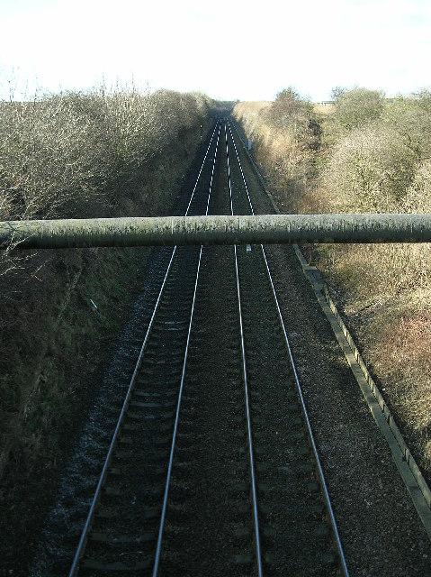 Micklefield - Garforth Railway from Ridge Bridge