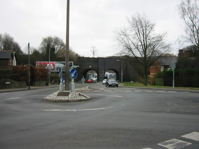 Roundabout at the junction of Fidlas Road & Ty Glas Avenue