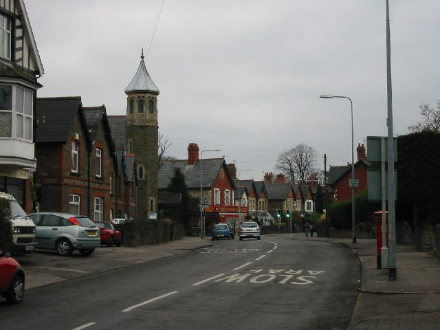 The northern end of Fidlas Road in Llanishen