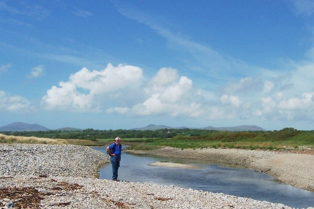 Afon Dwyfor close to the estuary