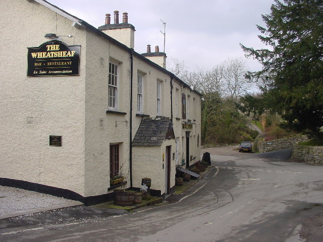 Pub and Road Junction, Brigsteer