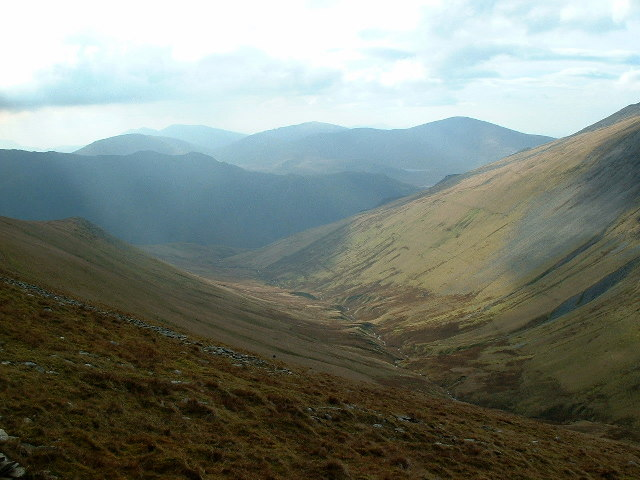 The view from the side of Foel-goch