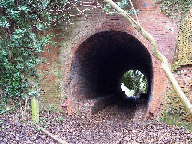 bridge under former railway at Blackbrook, Shepshed, Leicestershire.