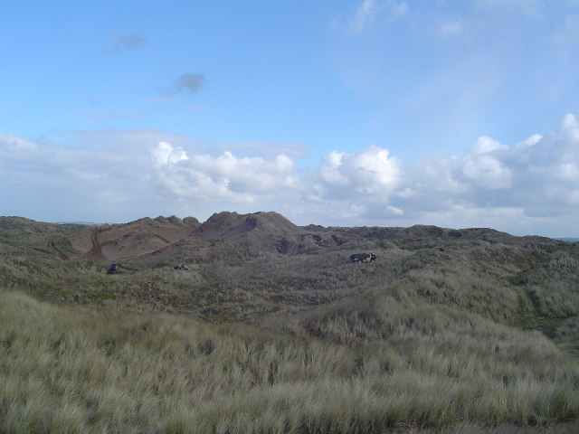 Dunes and Army trucks