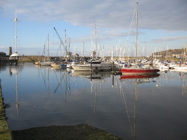 Reflections on the Marina at Whitehaven Harbour
