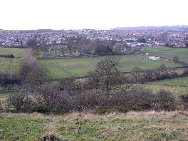 View over the valley westwards from Toothill, Rastrick, Yorkshire