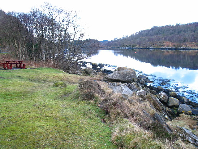Picnic area on the shore of Caol Scotnish.