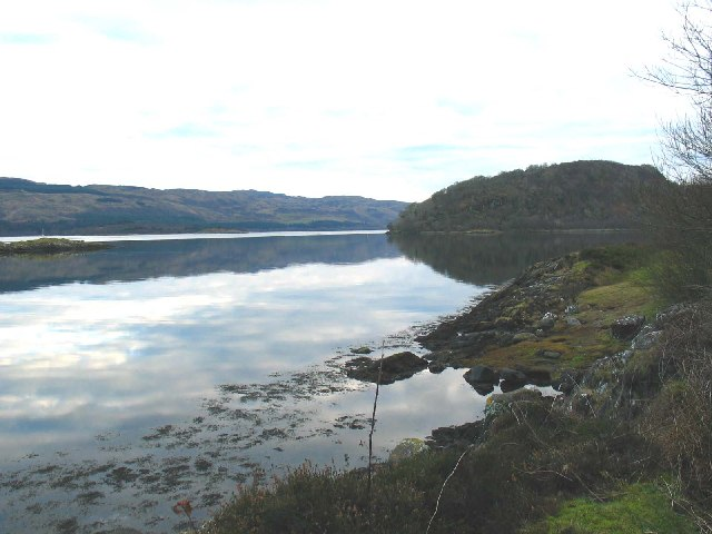Caol Scotnish looking south to Loch Sween.