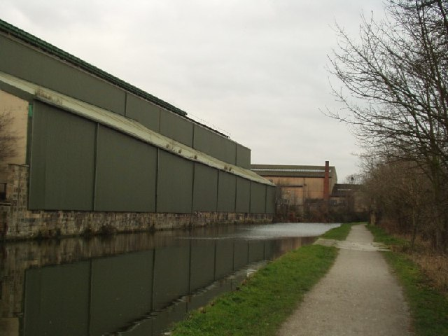 Factory alongside Leeds & Liverpool Canal