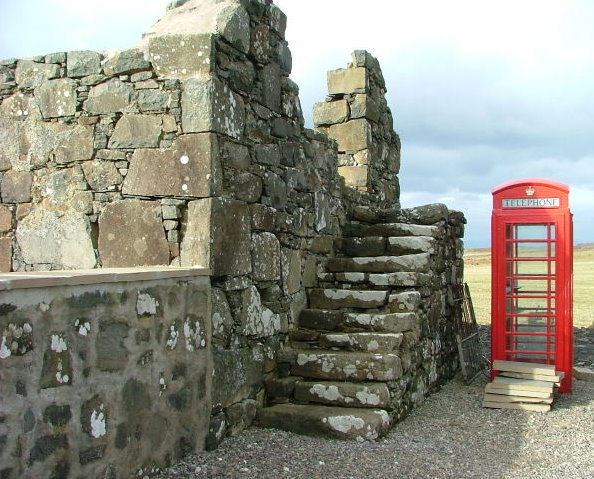 Stone steps and Telephone Box