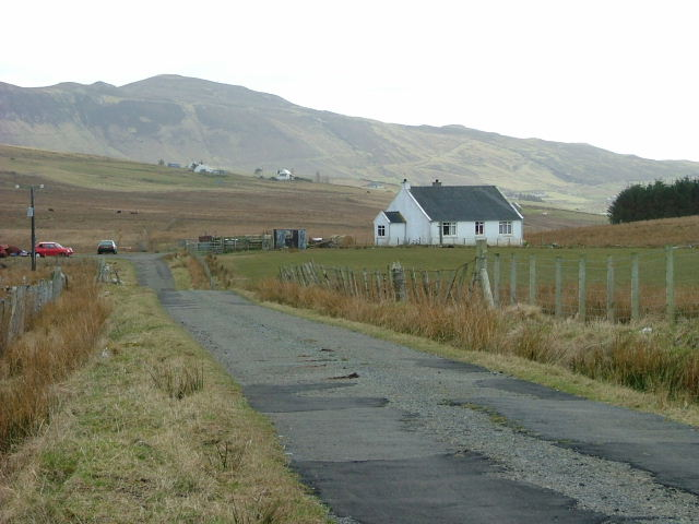 Croft at the road end in Kilvaxter