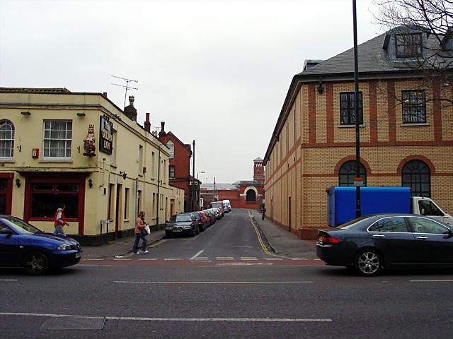 Looking up Cambridge Road to Horfield Prison