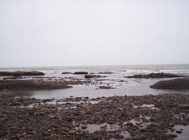 North Sea and Rocky Beach