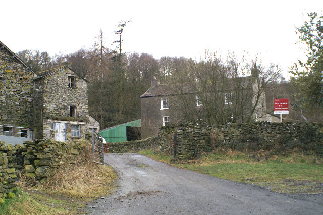 Old Hall Farm on the edge of Bouth