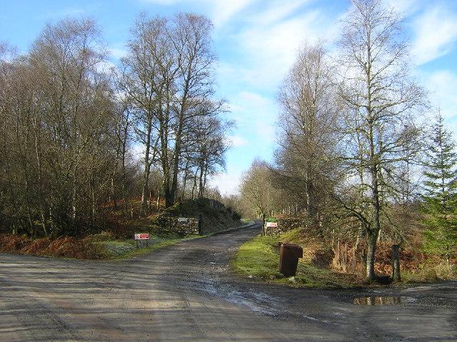 Duchray Castle Driveway