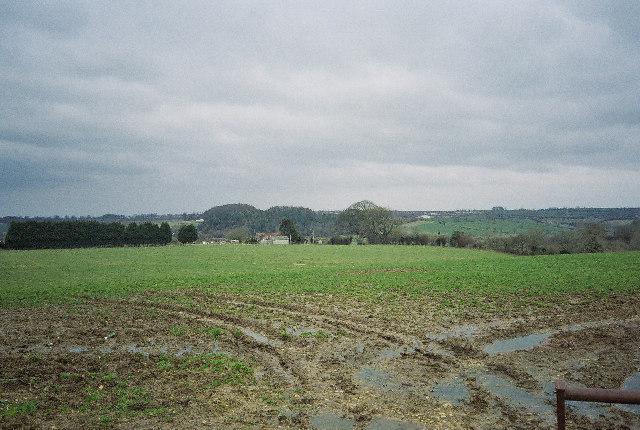 Fields looking towards Writhlington
